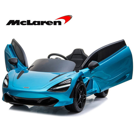 **Limited QTY**  Mclaren 720P Supercar kids ride on car - Belize blue