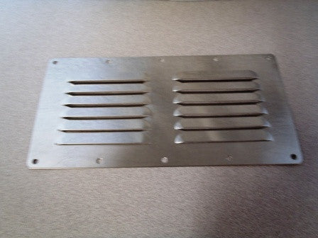 "9-1/8"" x 4-5/8"" Stainless steel vent"