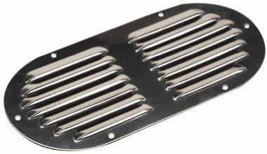 "9-1/8"" x 4-5/8"" Stainless oval vent"