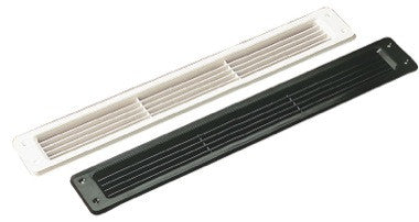 "2-5/8"" x 17-1/2"" ABS louvered vent - black"