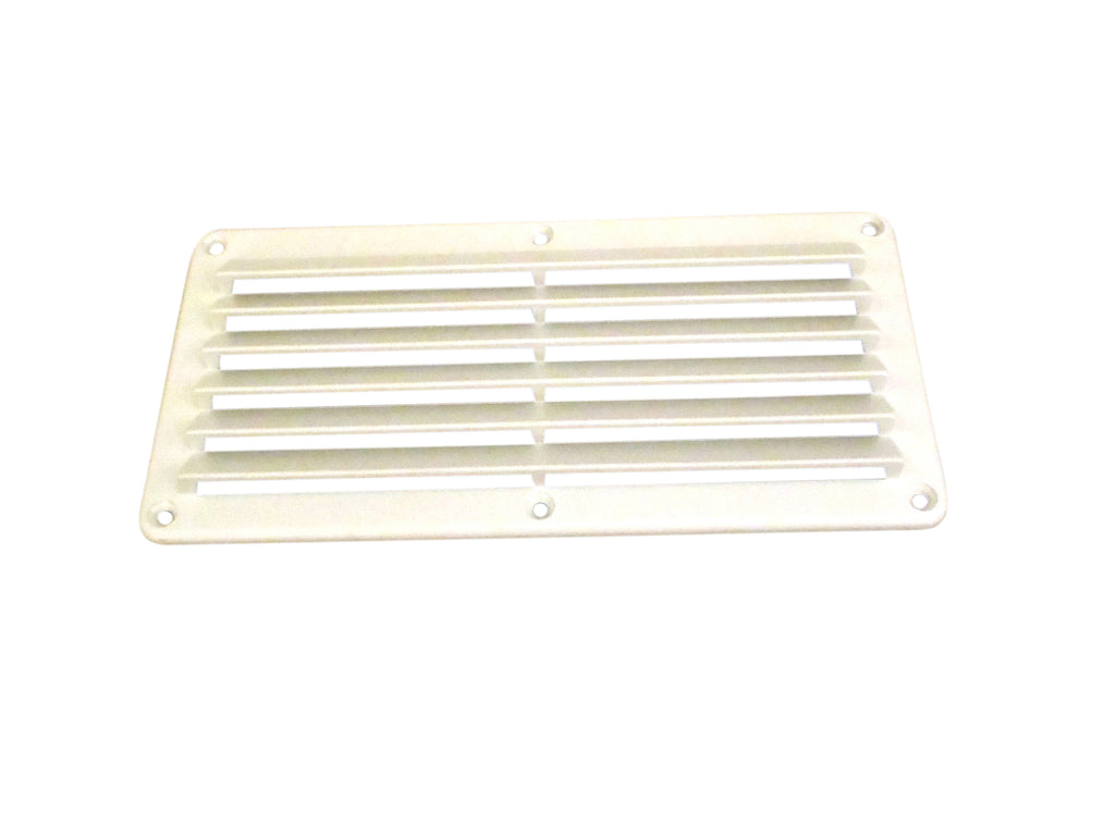 "4-7/8"" x 10-1/8"" ABS vent, white"