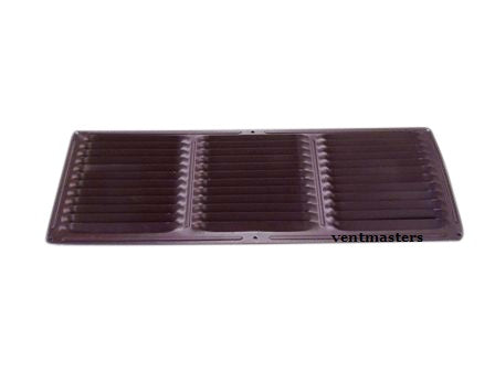 "6"" x 16"" Soffit Vent, brown"