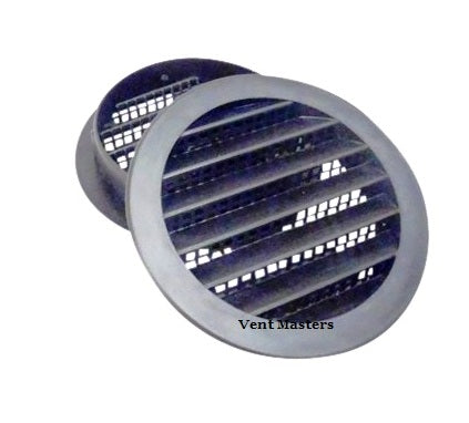 "4"" Round Plastic vent, black - bag of 4"