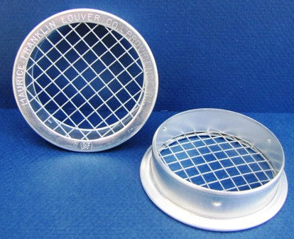 "3"" Round Open Screen Vent w 1/4"" mesh, mill"
