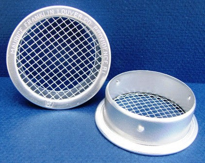 "4"" Round Open Screen Vent w 1/8"" mesh, mill"
