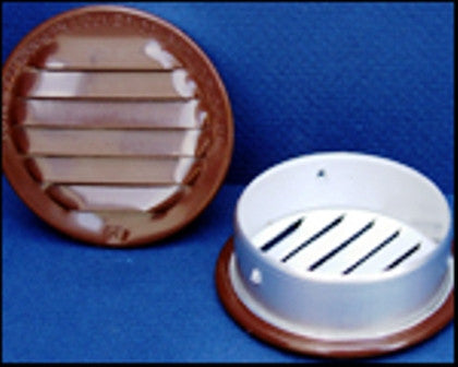 "6"" Round No screen vent, brown - bag of 2"