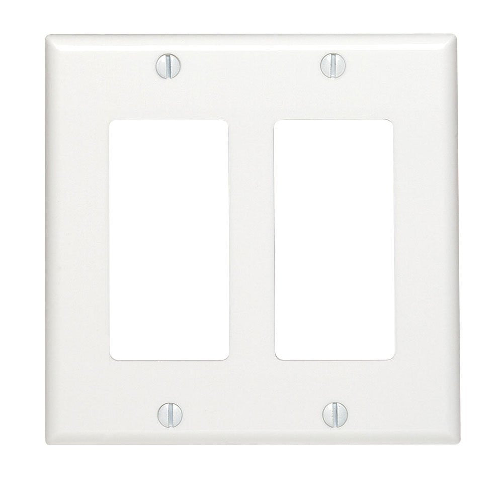 Double Switch Plate Cover - white Decora