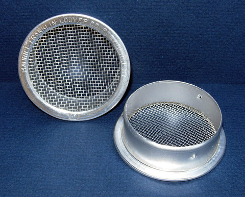 "6"" Round Open Screen Vent, mill - bag of 2"