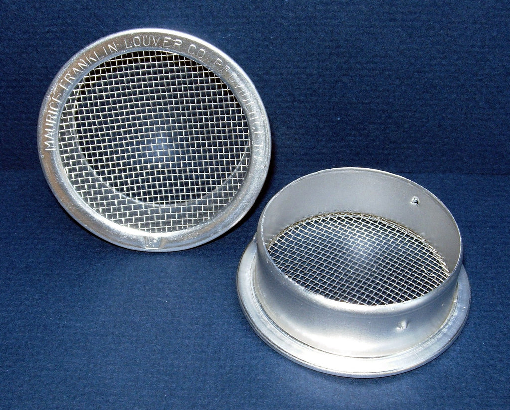 "4"" Round Open Screen Vent, mill"