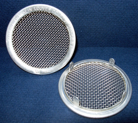 "2.5"" Round Open Screen Vent - tab style, mill - bag of 4"