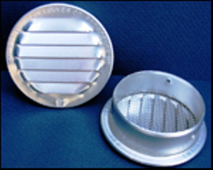 "1"" Round Screened Vent, mill"