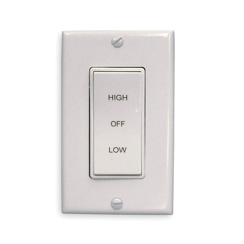 2 Speed Switch with off - white Decora