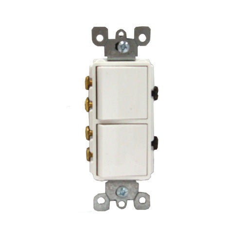 Stacked 2 Speed Switches White Decora