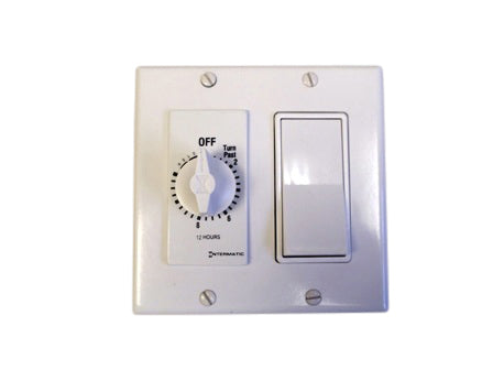 2 speed switch and timer package - white