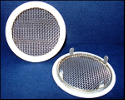 "4"" Round Open Screen Vent - tab style, white - bag of 4"