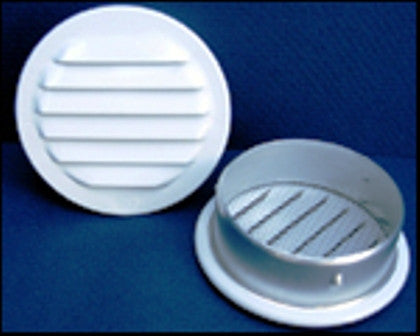 "1"" Round Screened Vent, white - bag of 6"
