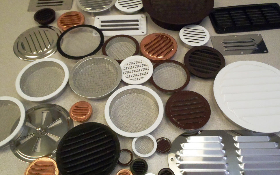 An array of small round vents.
