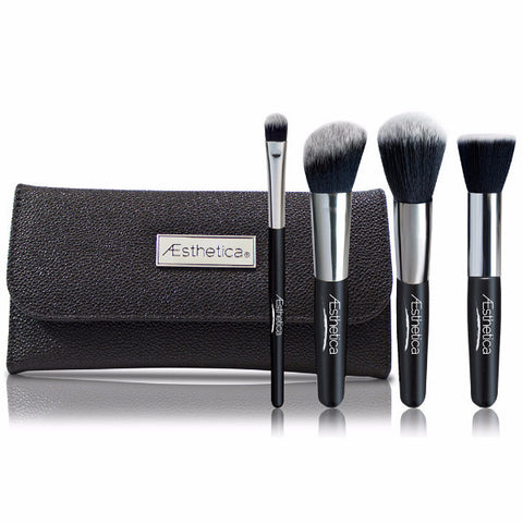 Aesthetica 4 Piece Contour Brush Set with Pouch