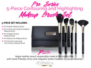 Aesthetica 5 Piece Pro Brush Set with Pouch