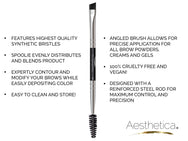 Aesthetica Pro Brush Series: Deluxe Brow Brush #B13