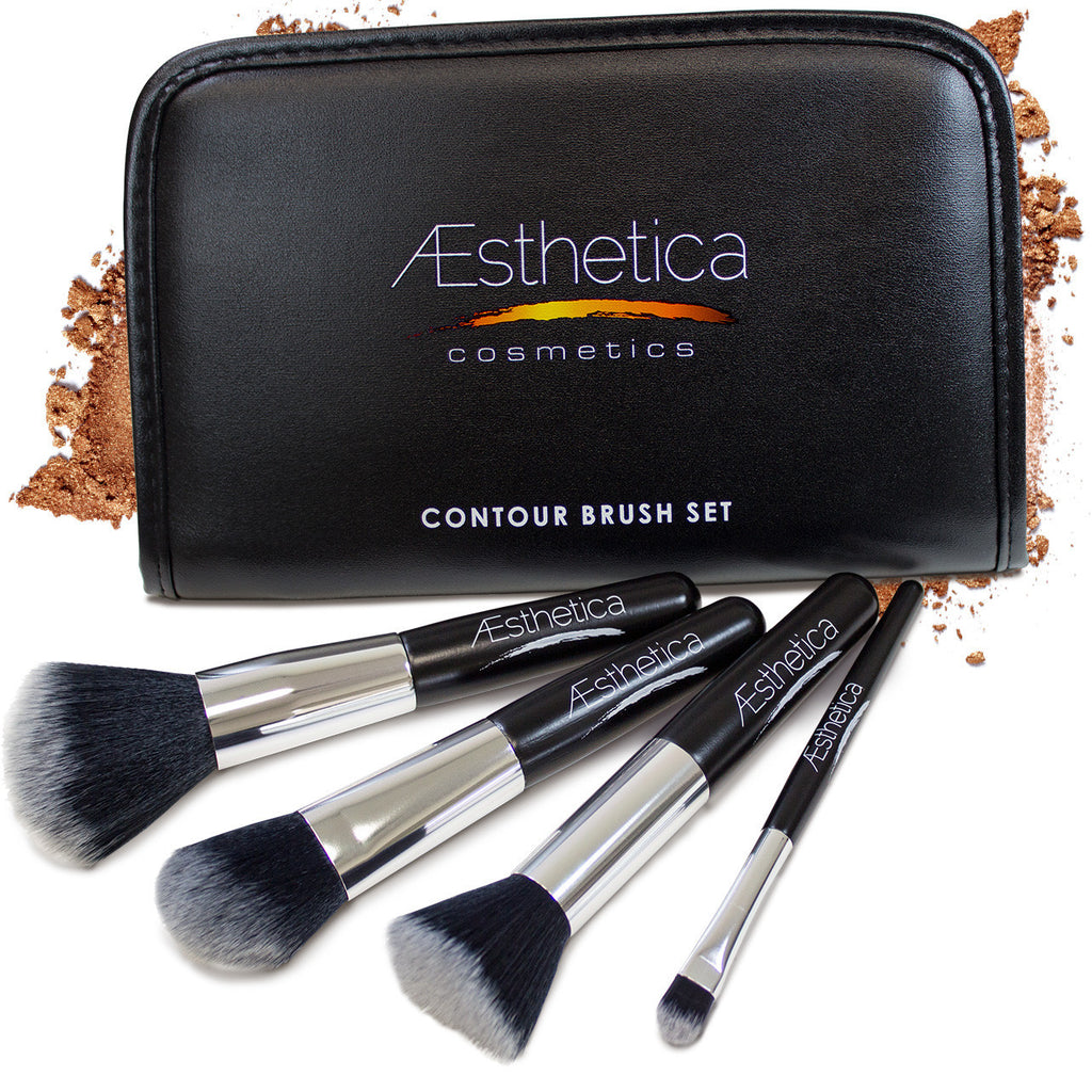 Special Deal! Aesthetica 4 Piece Contour Brush Set with Pouch