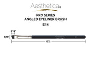 Aesthetica Pro Brush Series: Angled Eyeliner Brush #E14