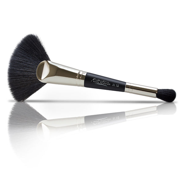 Aesthetica Pro Brush Series: Double Ended Highlighting Fan Makeup Brush #H10