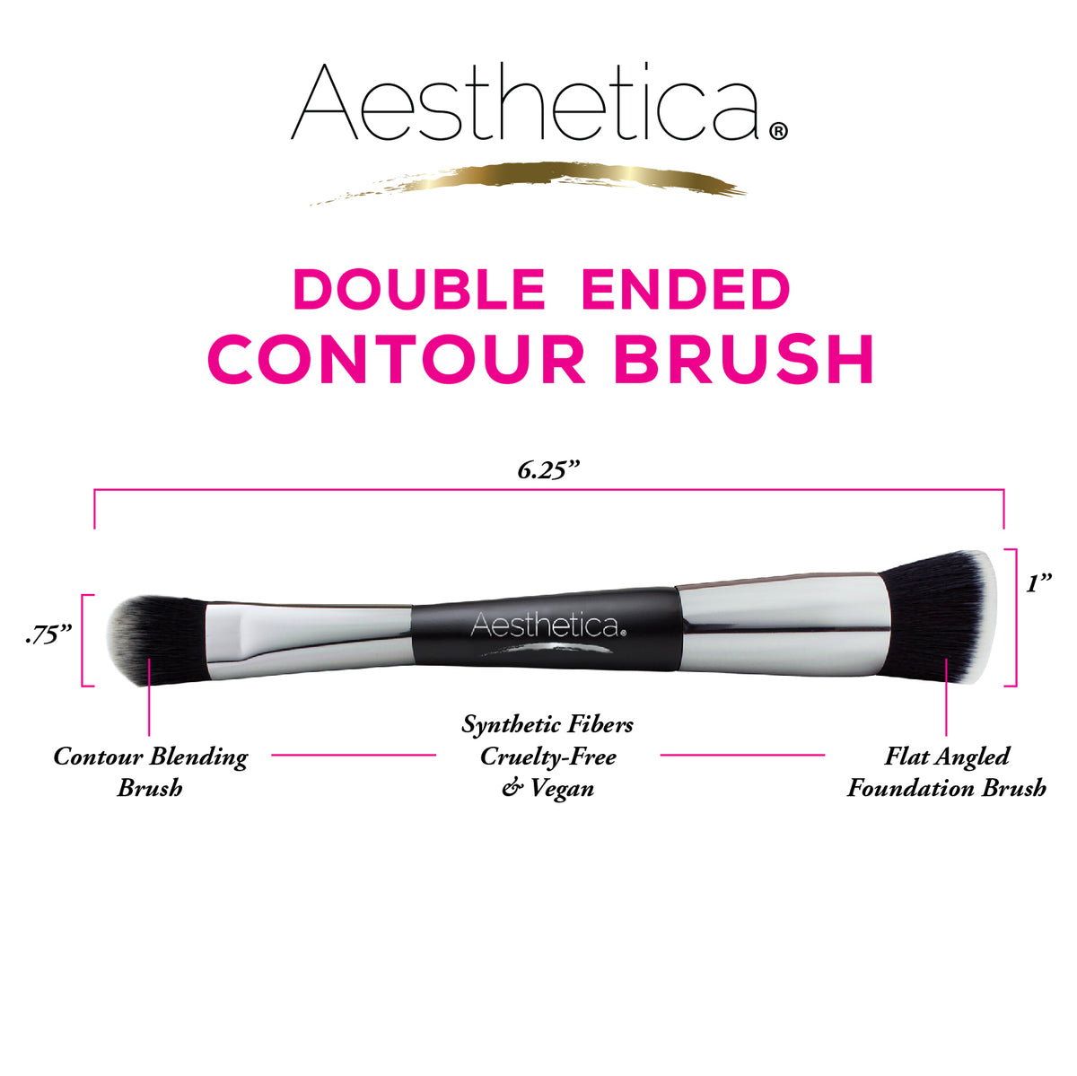 Aesthetica Double Ended Contour Brush