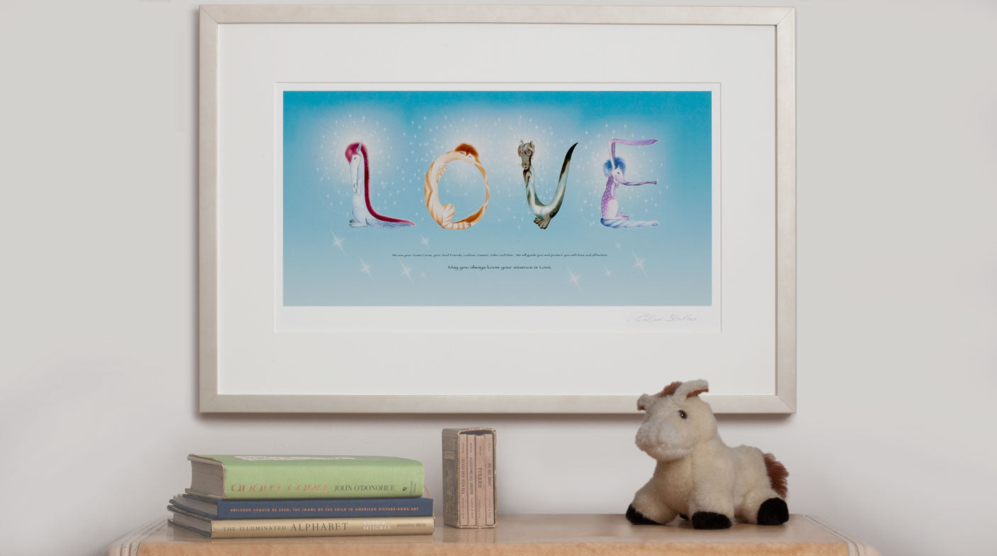 Anam Caras Love Blessing Print by Colleen Stratton