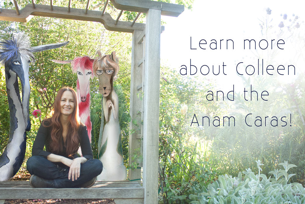 Photo of Artist Colleen Stratton and the Anam Caras