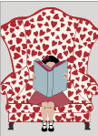 Valentine Hearts Book Lover Zoom Virtual Background
