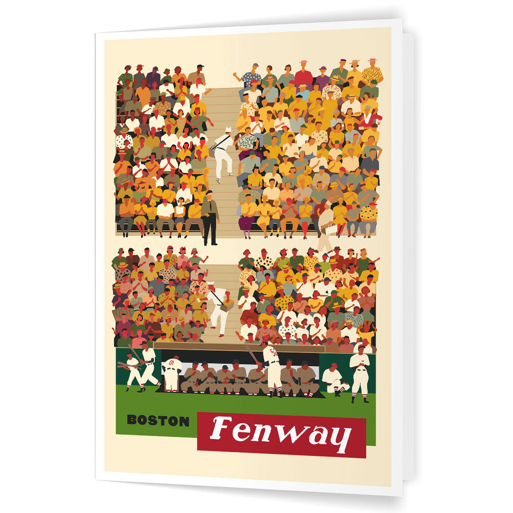 Boston Fenway Baseball Stands 5 x 7 Greeting Card
