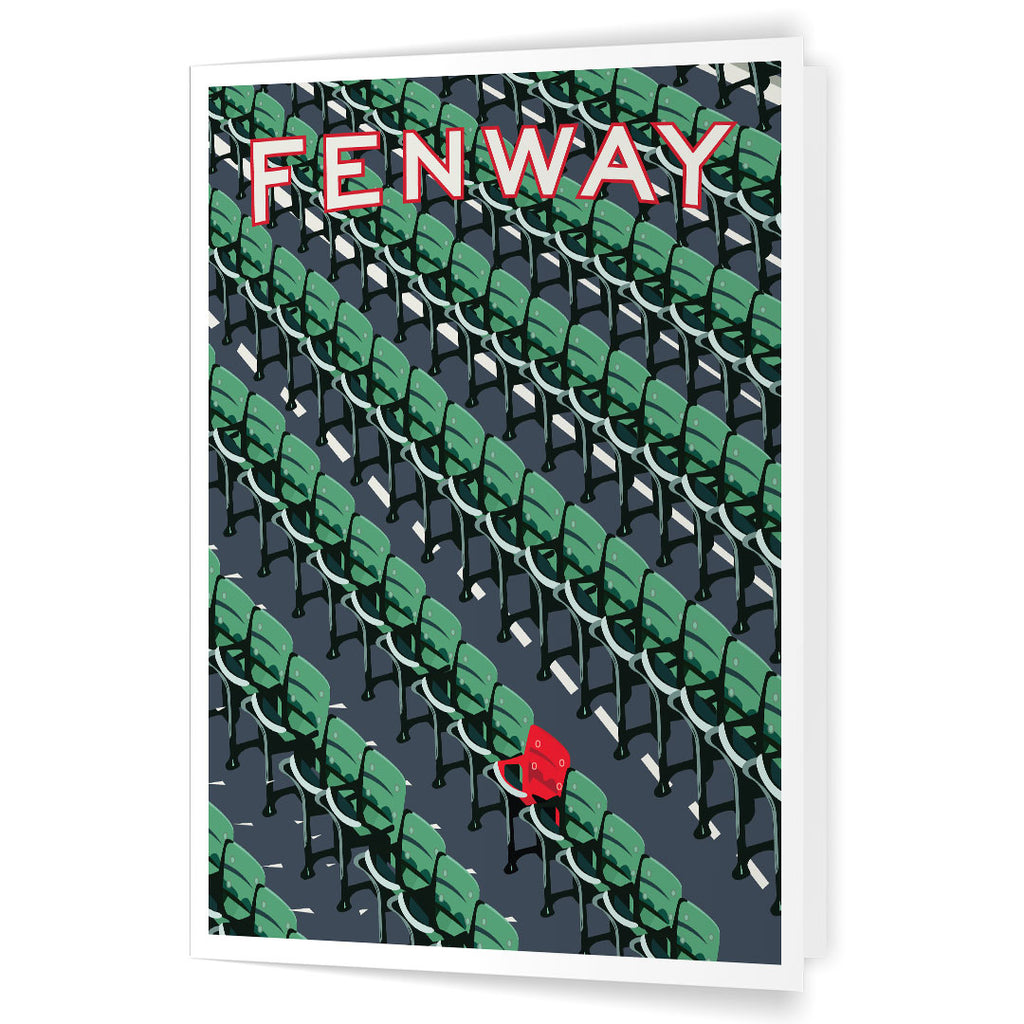Fenway Park Ted Williams Red Seat 5 x 7 Greeting Card