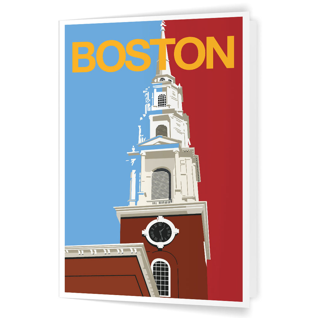 Boston Park Street Church Steeple 5 x 7 Greeting Card