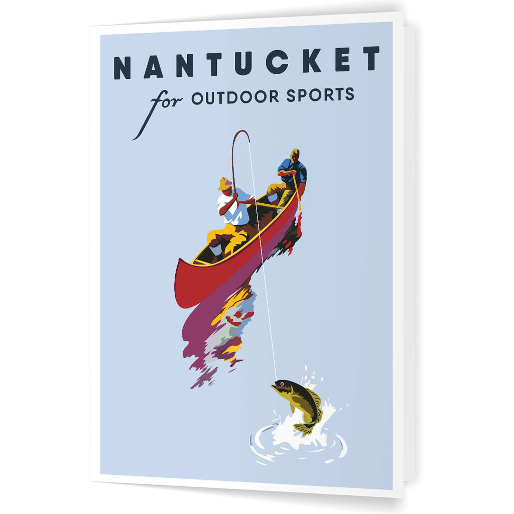 Nantucket for Outdoor Sports Fishing 5 x 7 Print