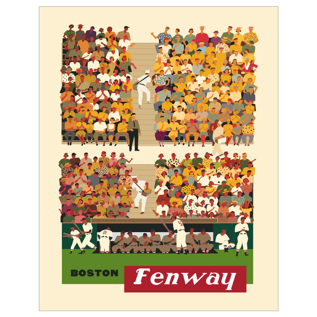 Boston Fenway Baseball Stands Magnet