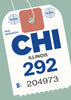 Chicago Luggage Tag Magnet