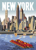 New York Skyline From Brooklyn Poster Magnet