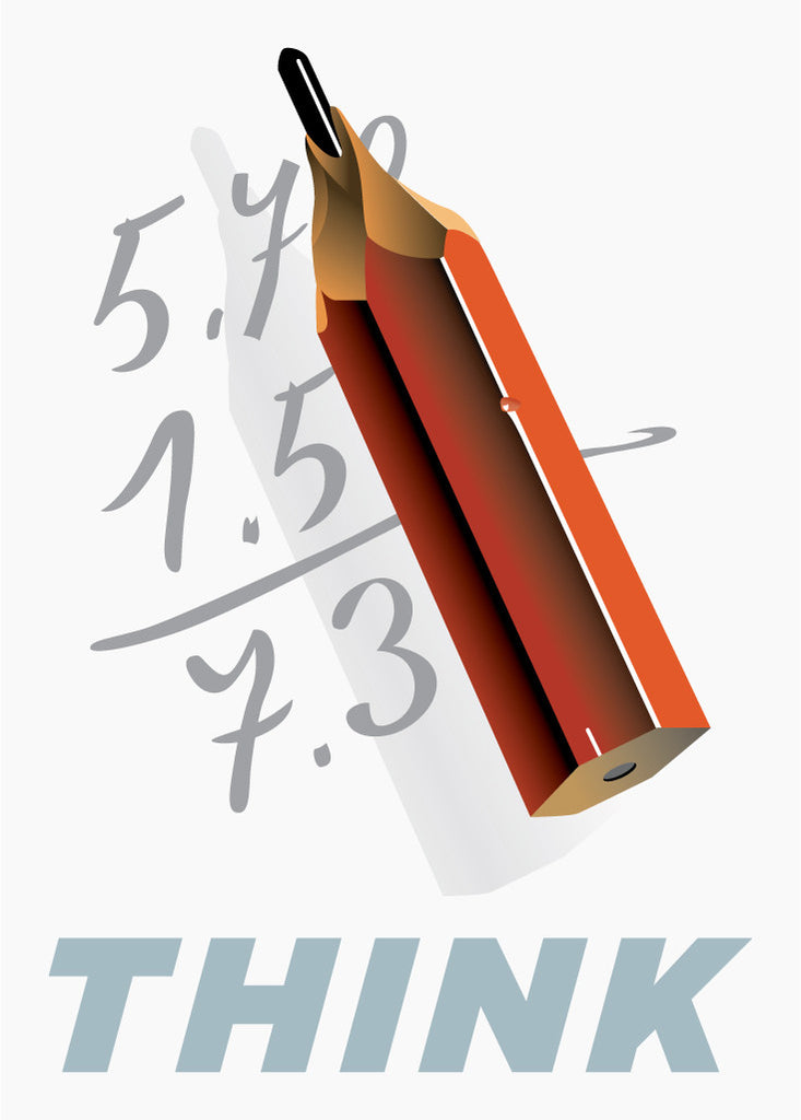 Think Pencil Calculations Magnet