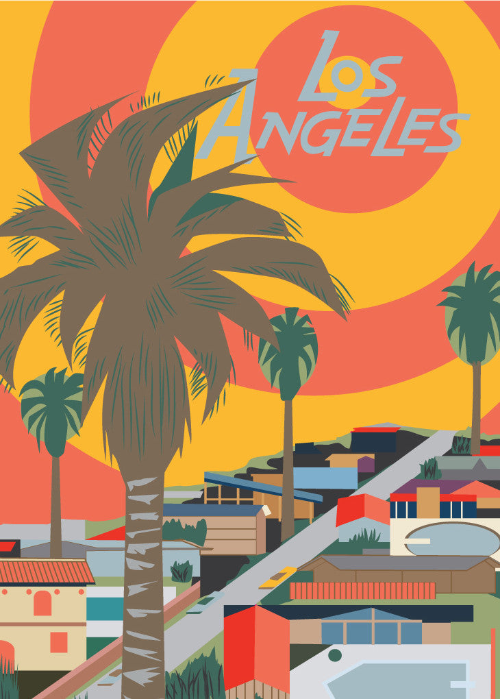 Los Angeles Pools Poster Magnet