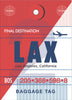LAX Luggage Tag Poster Magnet