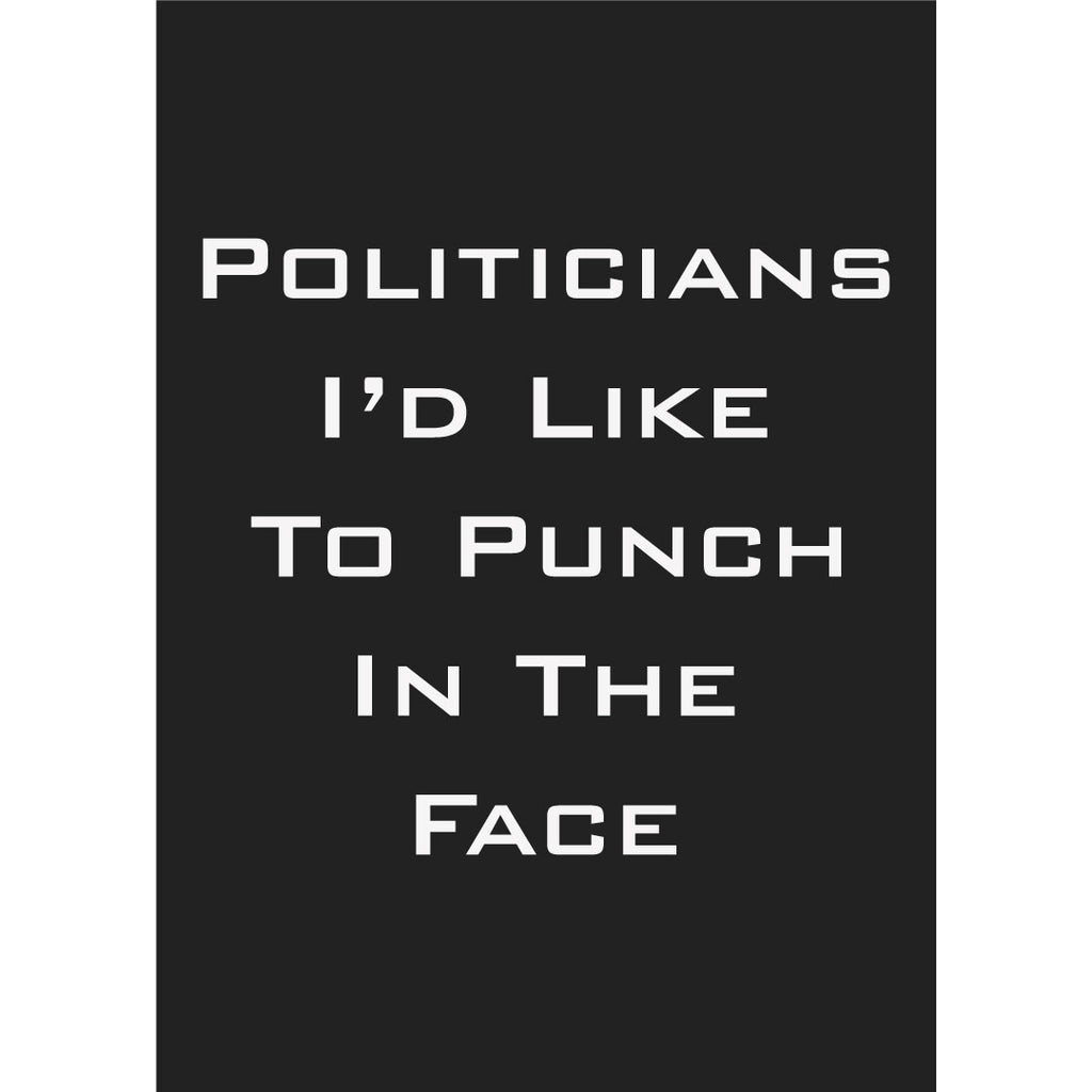 Politicians I'd Like to Punch in the Face Magnet
