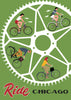 Ride Chicago Bike Wheel Print Magnet