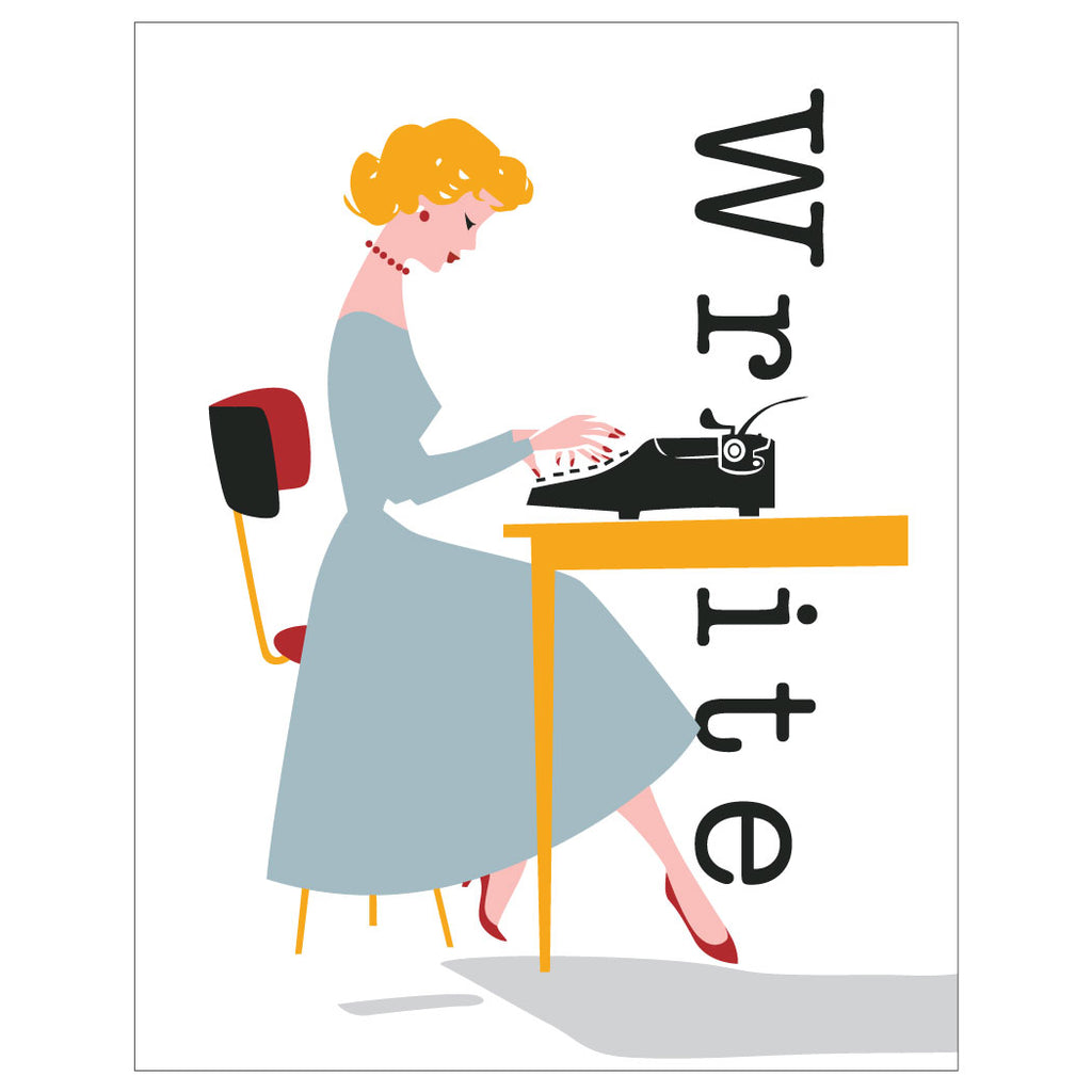 Write Typist Magnet & Greeting Card