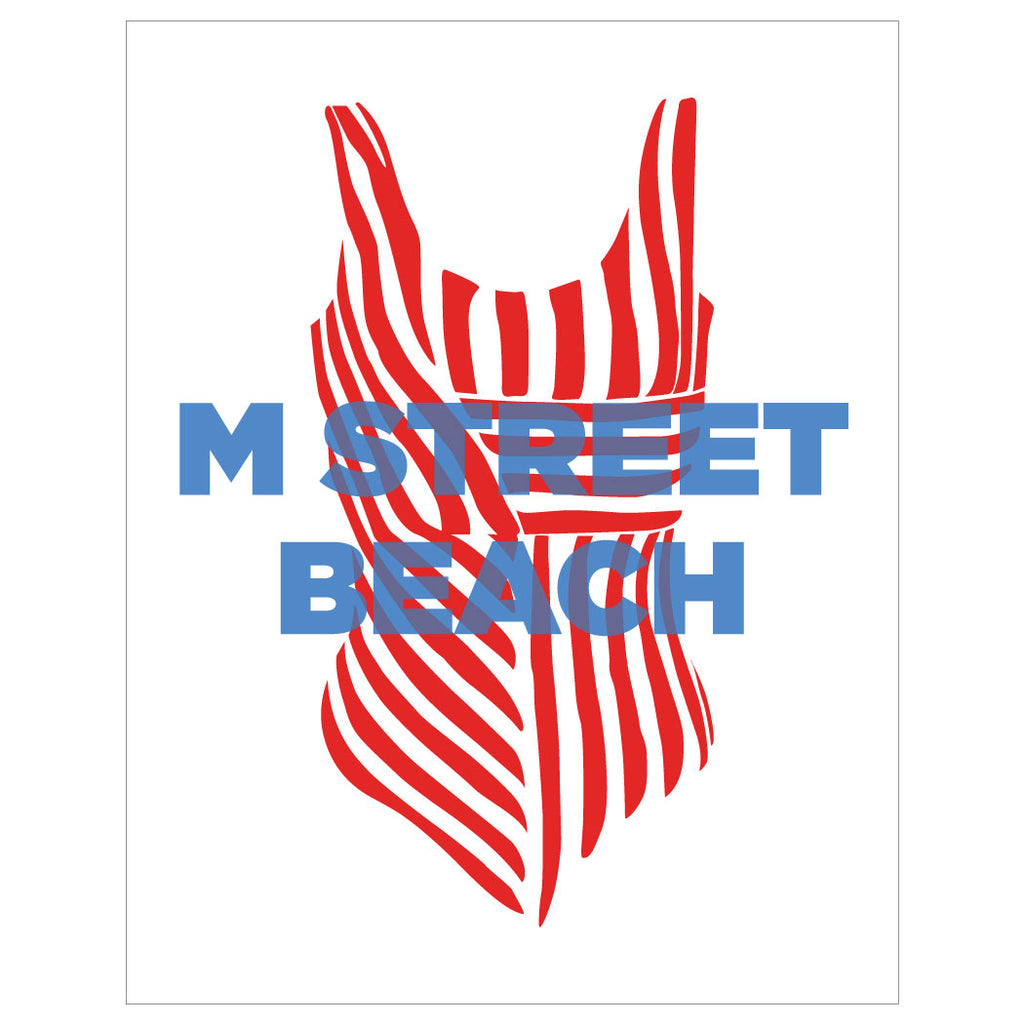 M Street Beach Bathing Suit Magnet & Greeting Card