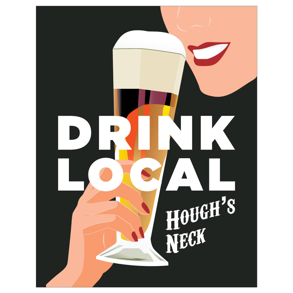 Drink Local Hough's Neck Magnet & Greeting Card