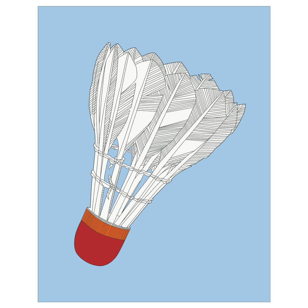 Badminton Shuttlecock Magnet & Greeting Card