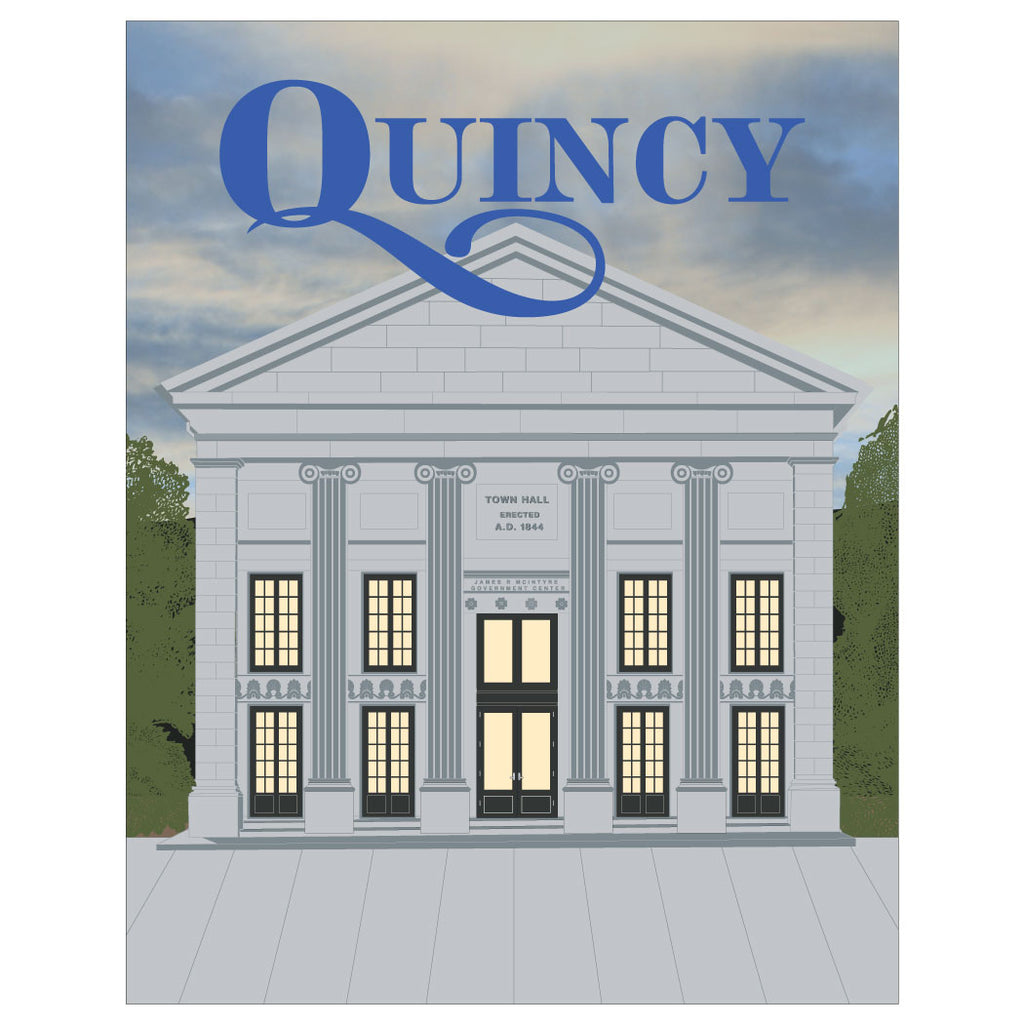 Quincy City Hall Magnet & Greeting Card