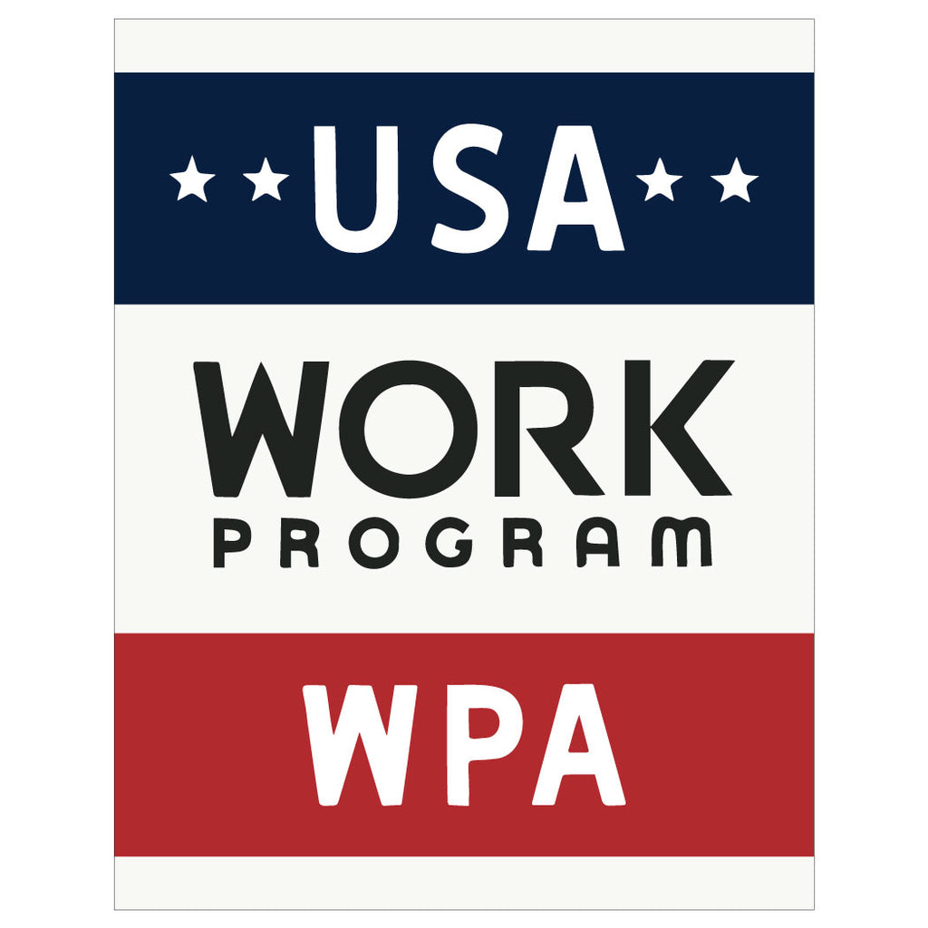 USA Work Program WPA Poster Magnet & Greeting Card