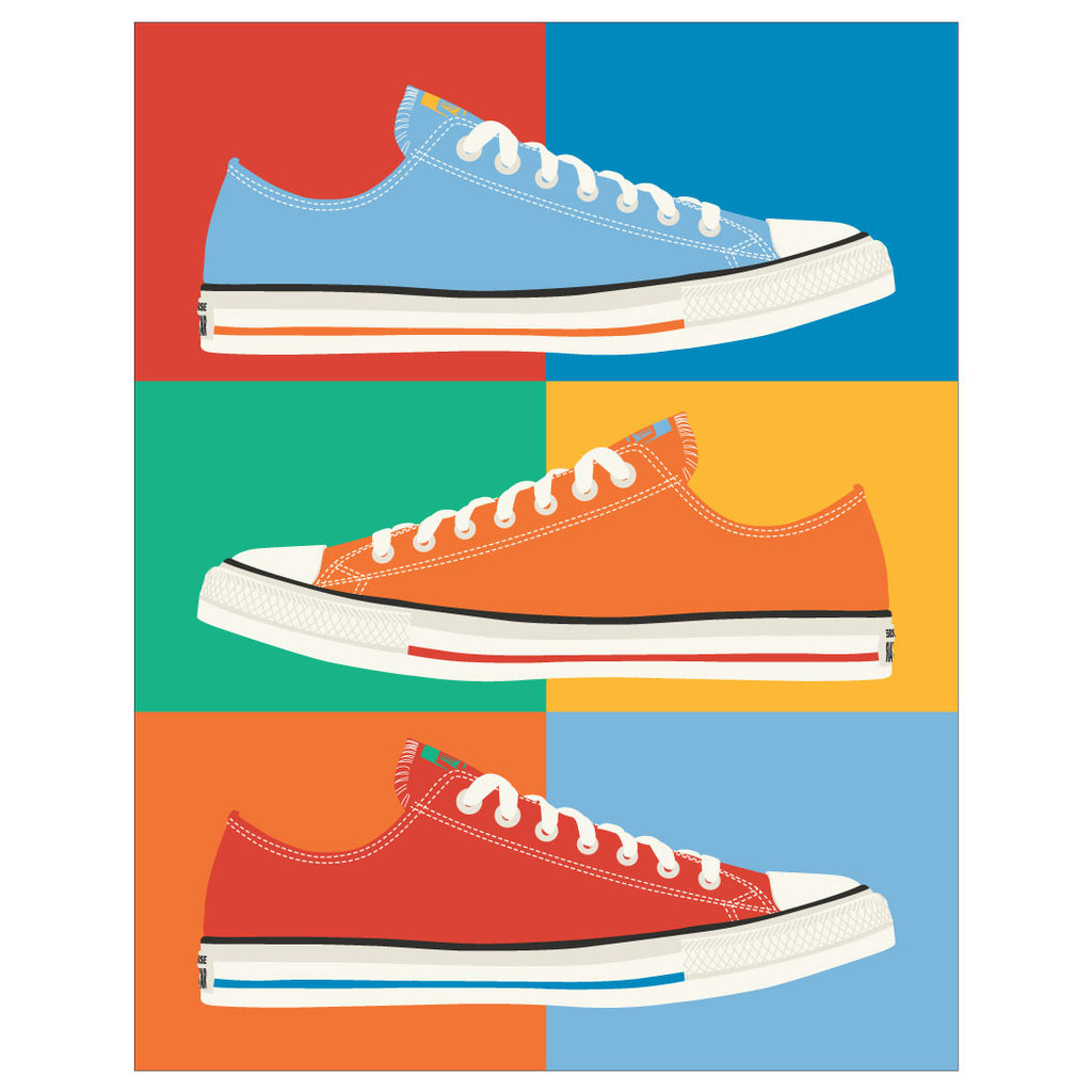 Colorful Chuck Taylor All Stars Collage Magnet & Greeting Card